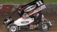 In making his final visit to I-96 Speedway as a full time World of Outlaws STP Sprint Car Series competitor will Steve Kinser win the feature event?
