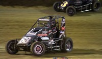 Bryan Clauson of Noblesville, Indiana overcame a flat left rear tire on lap 11 and raced his way back up front to claim the 23rd Annual Arnie Knepper Memorial, Clauson's 23rd career POWRi Lucas Oil National Midget Series win and his first of the 2014 season at the high-banked 1/5th mile Belle-Clair Speedway in Belleville, Illinois.