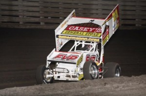 Brian Brown on his way to victory on Saturday at Knoxville Raceway. - Serena Dalhamer Photo