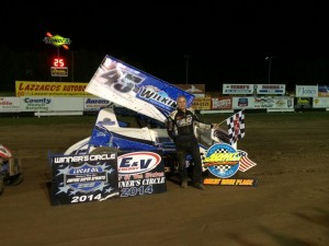 Chuck Hebing in victory lane at Albany Saratoga Speedway. - Image courtesy of Hebing Racing.