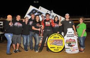 Aaron Reutzel reeled off his third win of the year and second in a row in Lucas Oil ASCS National Tour action by winning Friday night's 25-lap feature at the Outlaw Motorsports Park near Muskogee, OK. The Wheatley Collection