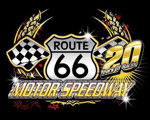 Route 66 Motor Speedway Logo Texas
