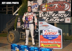 Christopher Bell in victory lane at Angell Park Speedway. - Jeff Arns Photo