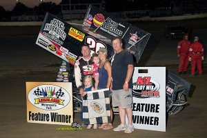 Greg Wilson in victory lane at Limaland Motorsports Park. - Mike Campbell Photo