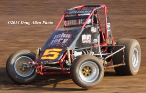 Rookie of the Year Candidate, #5 Logan Williams – 11th in USAC/CRA point standings. Photo by Doug Allen.