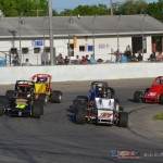 Heat race formed up at Spartan Speedway. - Bob Buffenbarger Photo