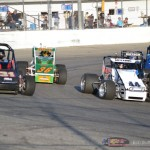 Heat race action at Spartan Speedway. - Bob Buffenbarger Photo