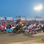 Parade lap during Ohio Sprint Speedweek at Limaland Motorsports Park. - Mike Campbell Photo