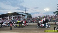 Images from Ohio Sprint Speedweek finale Saturday night at Fremont Speedway...