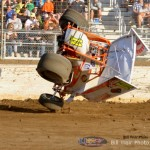 Tim Allison Flip at Limaland Motorsports Park Friday Night.   He was not hurt. - Bill Weir Photo