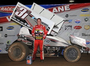 Christopher Bell added his 14th overall win of 2014 by topping Saturday night's 30-lap ASCS Speedweek finale at Lucas Oil Speedway in Wheatland, MO. - TWC Photo