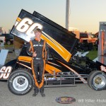 #60 Davey Hamilton heat race 3 winner. - Bill Miller Photo