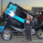 #22 Brian Gerster heat race 2 winner. - Bill Miller Photo