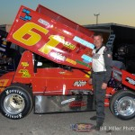 #61 Kevin Feeney heat race 1 winner. - Bill Miller Photo