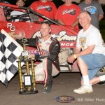 Jerry Coons, Jr. and car owner Monte Edison. - Bill Miller Photo