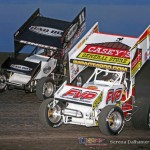 Steve Kinser (11) and Brian Brown (21) (Serena Dalhamer photo)