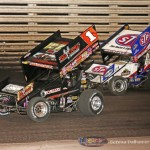 Sammy Swindell (1) and Donny Schatz (15) (Serena Dalhamer photo)