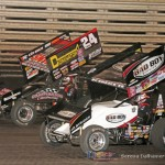 Terry McCarl (24) and Steve Kinser (11) (Serena Dalhamer photo)