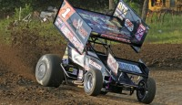 Images from the World of Outlaws STP Sprint Car Series from Burlington, Iowa...