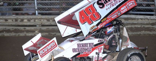 Danny Dietrich won the sprint car feature Saturday night at Lincoln Speedway.