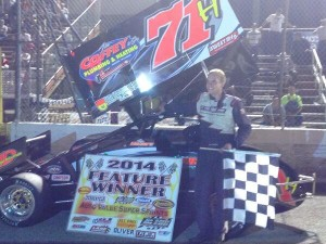 JoJo Helberg in victory lane Friday at Dixie Motor Speedway. - AVSS Photo