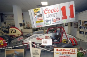 Just part of the Steve Kinser display in the National Sprint Car Hall of Fame and Museum. - Image courtesy of the NSCHOF