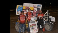 An engine change put Jeff Swindell starting fifteenth on Friday night after drawing second in the A-Feature, but luck was on the side of the Tennessee veteran, drawing the pole at the Billings Motorsports Park to lead start to finish for his second Protect the Harvest A-Feature victory of the year in front of a capacity crowd.
