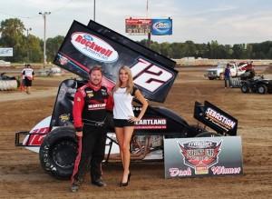 Jerrod won the Dash at Quincy (MOWA Photo)