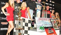 Jonathan Allard won the King of the West Sprint Car Series feature Saturday night at Tulare Thunderbowl Raceway.