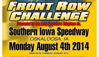 The excitement is at a fever pitch for the 19th Annual Casey's General Stores/Musco Lighting Front Row Challenge presented by Don Long's Searsboro Telephone Company!  The event will be held Monday, August 4, at the Southern Iowa Speedway in Oskaloosa, Iowa as part of the 13th Annual Cox Design Iowa Speedweek.