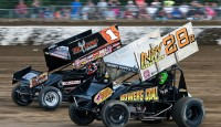 World of Outlaws STP Sprint Car Series at Limaland Motorpsorts Park during the Brad Doty Classic...