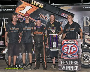 Sammy Swindell won the Knight Before the Kings Royal at Eldora Speedway. - Mike Campbell Photo