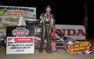 Bryan Clauson added his second USAC National Midget win of the year by topping Tuesday night's Chad McDaniel Memorial event at Solomon Valley Raceway in Beloit, KS. - TWC Photo