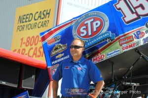 Donny Schatz with his car for the Knoxville Nationals. - T.J. Buffenbarger Photo