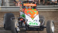 Images from the opening night of Indiana Sprint Week with the USAC Amsoil National Sprint Car Series...