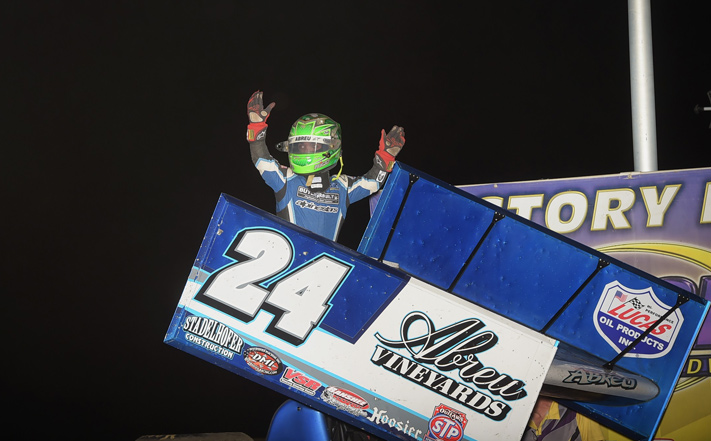 Rico Abreu in victory lane. - Rob Kocak Photo