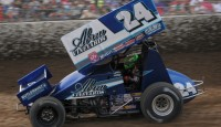 Rico Abreu won the Johnny Key Classic on Saturday night at Ocean Speedway.