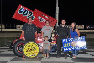 Jared Kern in victory lane. - TWC Photo