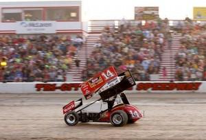 Tony Stewart at Tri-City Motor Speedway. - Erika Wehrwein / Tri-City Motor Speedway / courtesy of NSSN