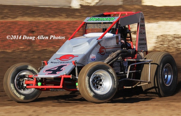 """The Demon"" Damion Gardner - USAC/CRA Point Leader. Photo by Doug Allen."
