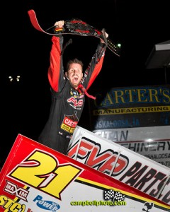 Brian Brown won the Front Row Challenge at Southern Iowa Speedway. - Mike Campbell Photo