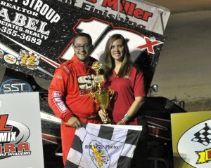 Dustin Stroup won the Sprint Car Feature at Limaland Motorsports Park Friday night. - Bill Weir Photo