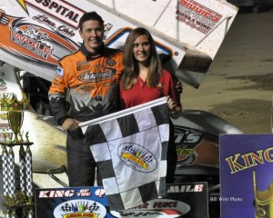 Max Stambaugh won the King of the Quarter Mile feature Friday night at Limaland Motorsports Park. - Bill Weir Photo