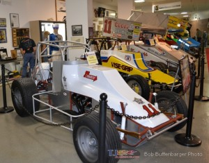 The Salute to the King display at the National Sprint Car Hall of Fame and Museum. - Bob Buffenbarger Photo