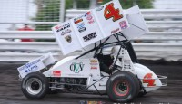Danny Smith won the Ohio Valley Sprint Car Association feature Friday night at Brushcreek Motorsports Complex