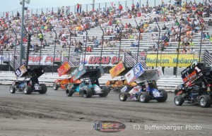 Field formed up for the Speed Sport World Challenge. - T.J. Buffenbarger Photo