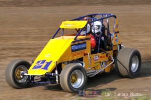 Jack Hewitt wheeling his two seater on Saturday at Waynesfield Raceway Park. - Jan Dunlap Photo