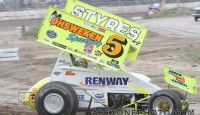 Keith Dempster won the Southern Ontario Sprints Labour Day Classic Sunday night at Brighton Speedway.