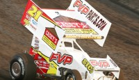 The high side was the way to go for Brian Brown as the Casey's General Store No. 21 raced from thirteenth to win at the Randolph County Raceway with the Speedway Motors ASCS Warrior Region on Sunday night.