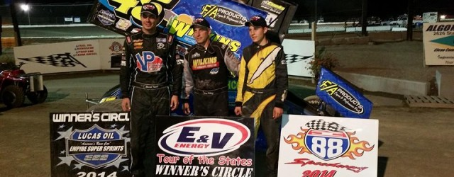 Chuck Hebing won the Lucas Oil Empire Super Sprints feature Saturday night at I-88 Speedway.